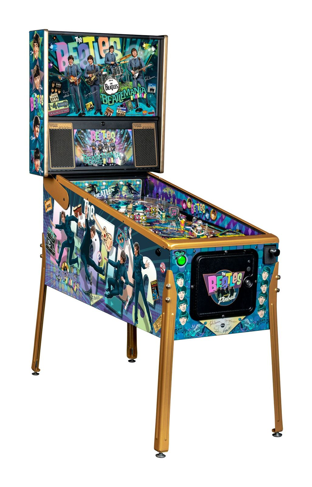 Stern Beatles Gold Edition Pinball Machine
