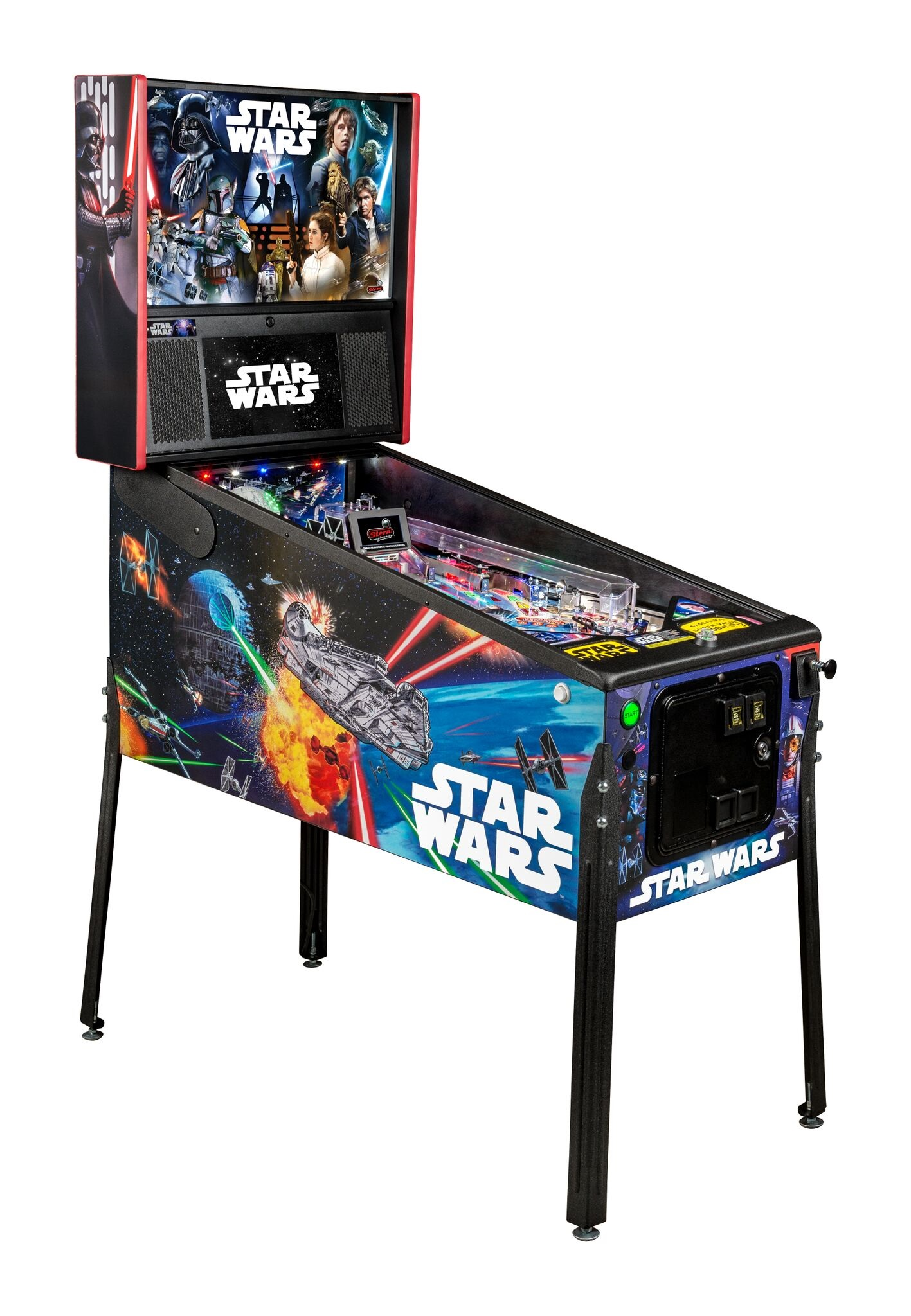 Stern Star Wars Pro Pinball Machine Free Shipping